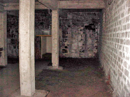 My photo of the Mauthausen morgue before it was turned into a Museum room