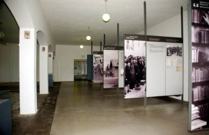Large shower room in Dachau administration building