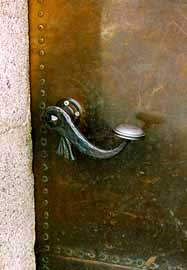 Door handle on a door into the Kehlsteinhaus in Germany