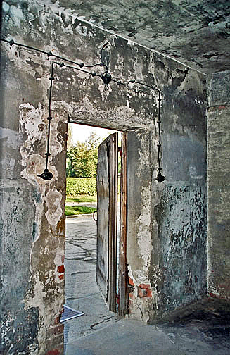 Exit door from the gas chamber in the main Auschwitz camp