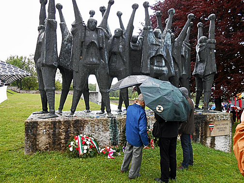 Pal Ferenczi visited the Memorial to the Hungarian Resistance fighters at Mauthausen