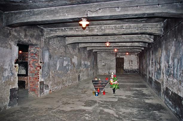 Krema I gas chamber in the Auschwitz 1 camp