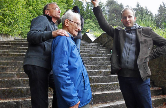 93-year-old survivor of Mauthausen visits the Memorial site