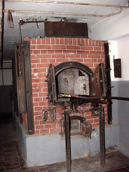 My photo of the first crematory oven at Mauthausen