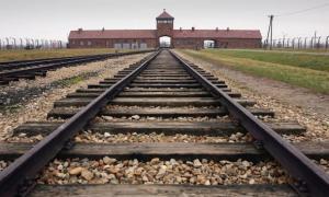 The inside of the Auschwitz-Birkenau camp