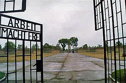 "Sachenhausen was the first camp to have the ""Arbeit Macht Frei"" sign"