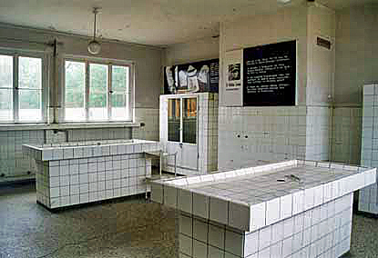 Autopsy tables at Sachsenhausen Memorial Site