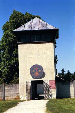 Entrance into the Carmelite Chapel at Dachau