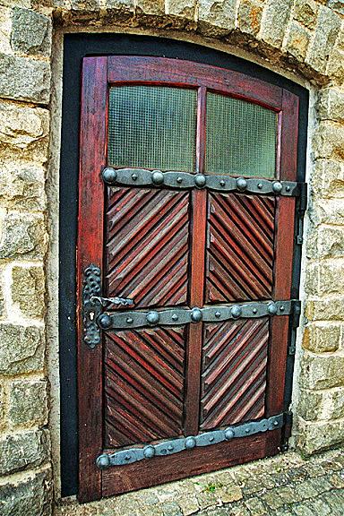 Prisoners entered Mauthausen through this door
