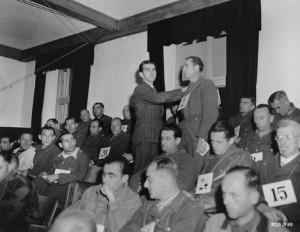 Friedrich Wilhelm Ruppert on trial at Dachau