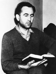 Friedrich Wilhelm Ruppert reads a book in his prison cell while awaiting trial