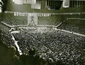Famous rally at which the boycott of German goods started in America