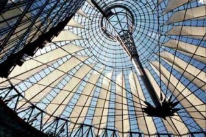 Roof over the Potsdammer Platz in Berlin