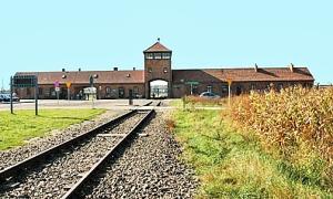 My 2005 photo of the entrance into Auschwitz-Birkenau