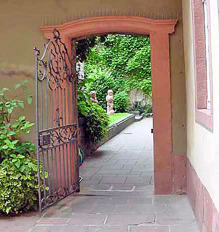 Iron gate at the exit from Goethe's garden in Frankfurt