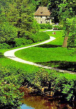 The path to Goethe's garden house