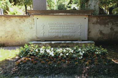 The grave of German soldiers who fought against the Communists