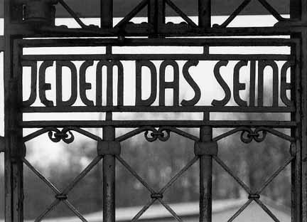 Jedem das Seine on Buchenwald gate