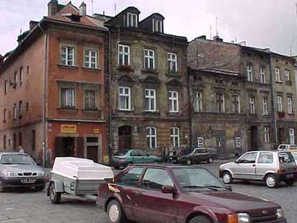 The Jewish quarter in Krakow which was shown in Schindler's List