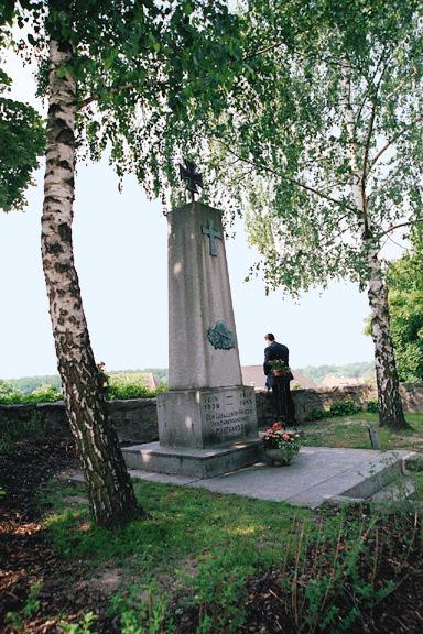War memorial in town of Mauthausen
