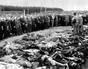 Bodies of prisoners who died at Ohrdruf