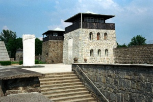 My photo of the entrance into the Mauthausen concentration camp