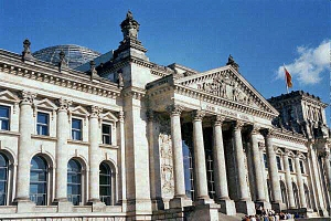 My 2002 photo of Reichstag building in Berlin