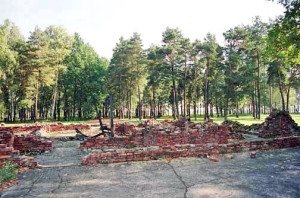 Ruins of Krema V at Auchwitz-Birkenau