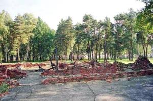 Ruins of Krema V at Auchwitz-Birkenau
