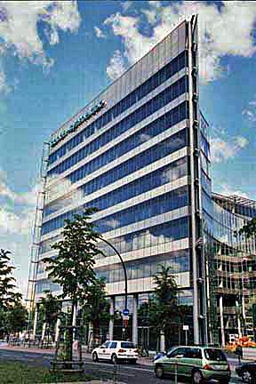 The Sony Center in modern Berlin