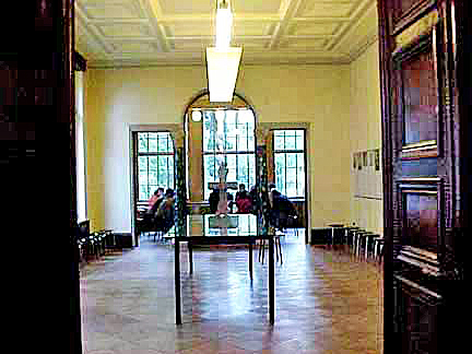 The dining room in the Wannsee house where the genocide of the Jews was planned