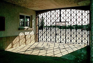 Another early morning shot of the gate into Dachau camp