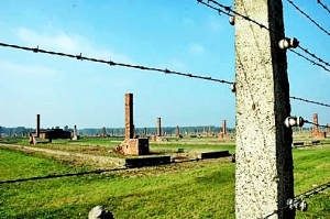 My 2005 photo of Auschwitz-Birkenau