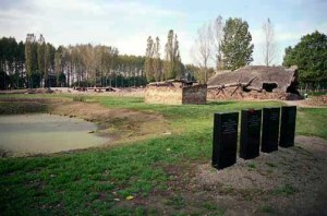 Ash pond for Krema II at Auschwitz-Birkenau