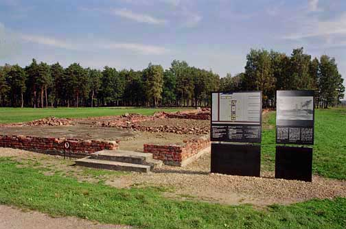 The location of Krema IV has been reconstructed at Auschwitz-Birkenau