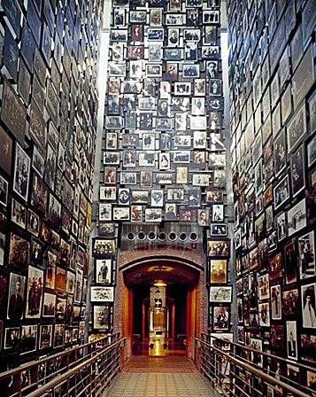 Hall of photo at the United States Holocaust Memorial Museum