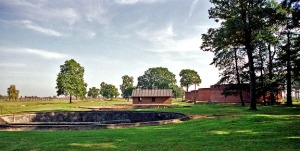 Water treatment plant at Auschwitz II camp