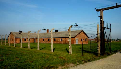 Clothing disinfection building at Auschwitz-Birkenau