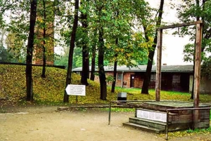 Gallows on which Rudolf Hoess was hanged at Auschwitz