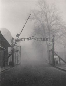 Excellent photo of Auschwitz gate taken by Tom Morton