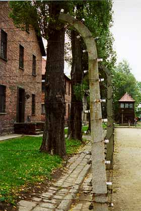 Inside the Auschwitz main camp