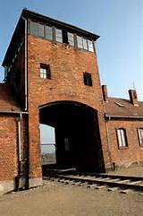 My 2005 photo of the gate into the Birkenau camp