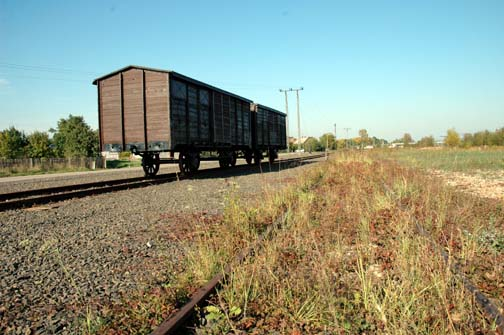 Original boxcar which brought Jews to Auschwitz