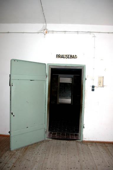 Door into the Brausebad at Dachau