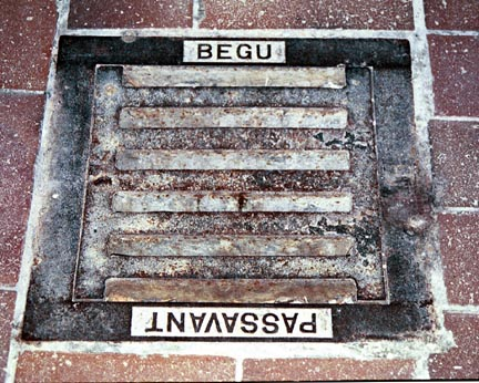 Floor drains in Dachau gas chamber are now closed up