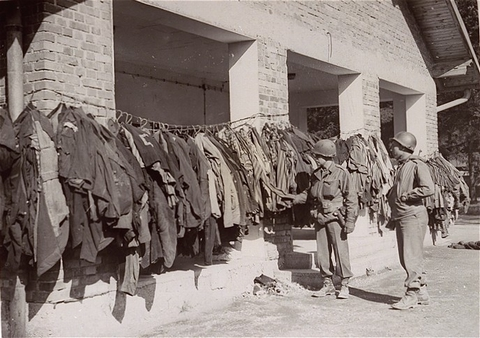 Clothing that has been disinfected at Dachau