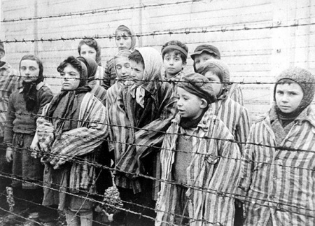 Photo of children who survived Auschwitz