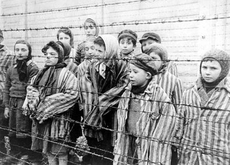 Photo of children who survived Auschwitz
