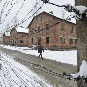 The Auschwitz main camp in winter in 2015