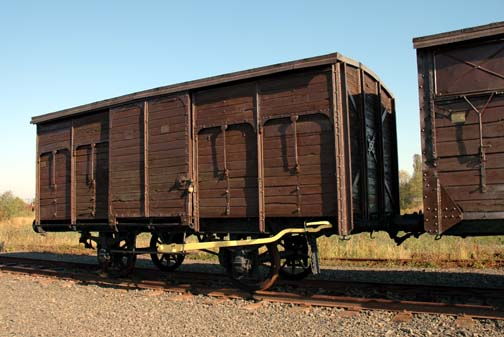 Original train car that brought prisoners to Auschwitz